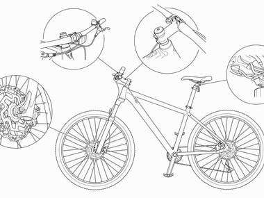 Bicycle Product Illustration