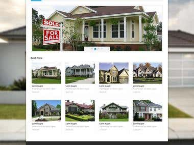 Real Estate Page design