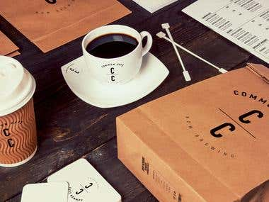 Branding for Cafe - logo, style, cup, menu, flyers