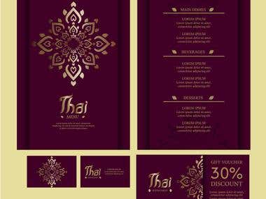 Menu Card Desiging