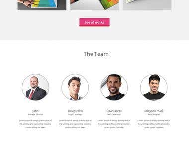 Web site portfolio page design