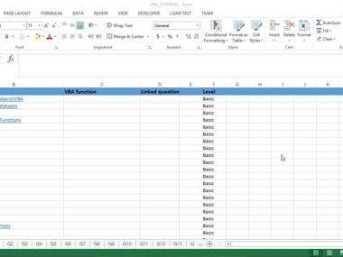 Excel VBA Tutorial Tool