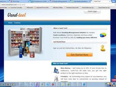 Vending Tracker site