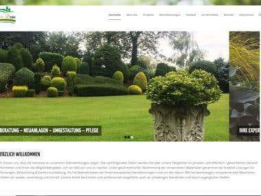 Web Site auf WP für Garten und Landschaftsbau Betrieb