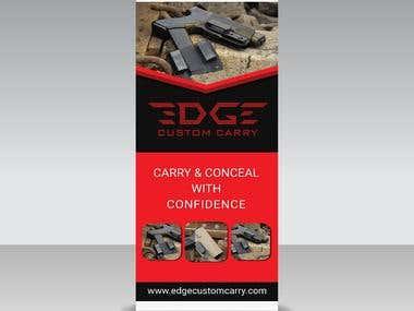 Banner Design For edgecustomcarry