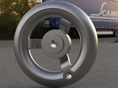 Hand Wheel Modeling and Rendering