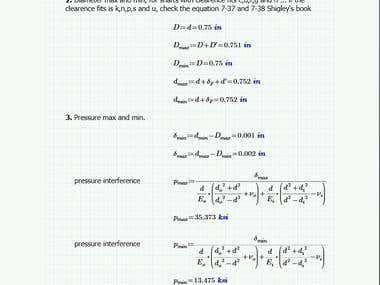 Mechanical engineering - Calculus
