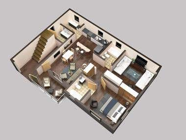 3d floor plan by using 3ds max