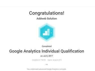 Google Analytic Individual Certificate