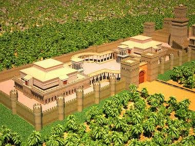 Herod's Temple 3d flythrough Animation