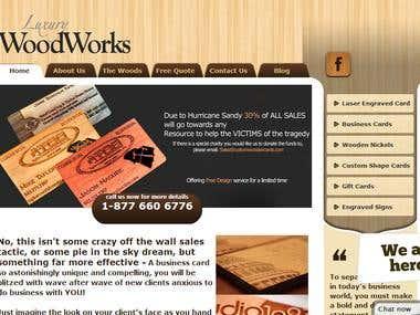 WoodenCards (Wordpress)