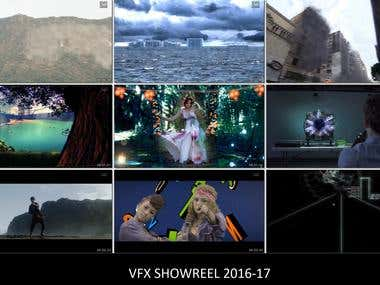 VFX Showreel 2016-17