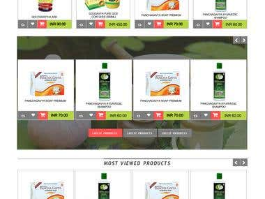 ECommerce Website Layout Design