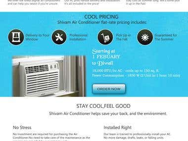 A/c Rental Website