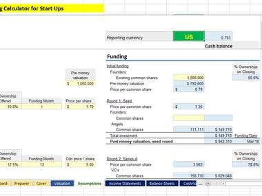 Financial Modeling - Staged Financing Calculator