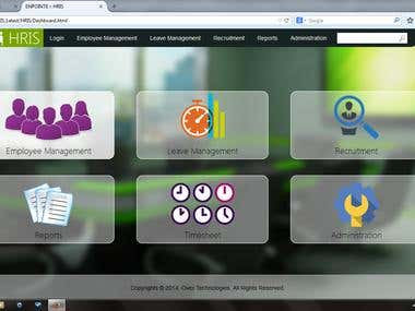 Responsive Web Based Human Resources Information System Port