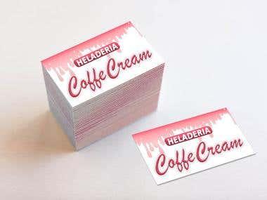 Tarjeta Heladería Coffe Cream