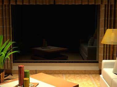 Sala de estar 3D