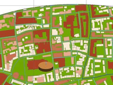 GIS Digitizing an Area of a city with Statistics