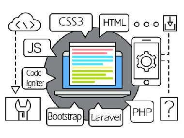 PHP, Angular javascript and Bootstrap