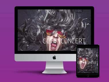 Music Concert Website