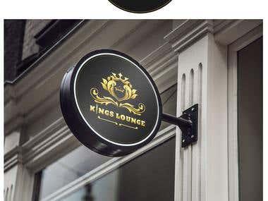 Logo Design for Kings Lounge