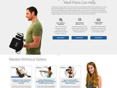 Online Fitness Training website