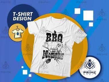 T-shirt Design - BBQ T-shirt Design