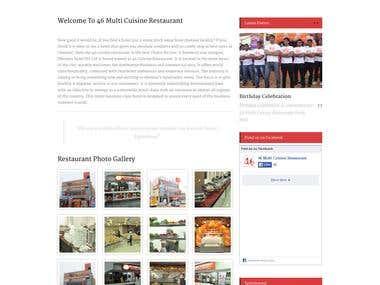 Restaurant CMS Website