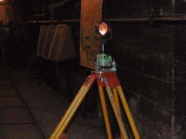 Tunnel Surveying works using plummets and Gyro