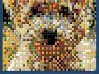 Create and order your LEGO mosaic