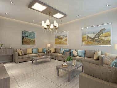 Master Bedroom and Living Room