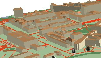 Visualize 3D city and flight animation