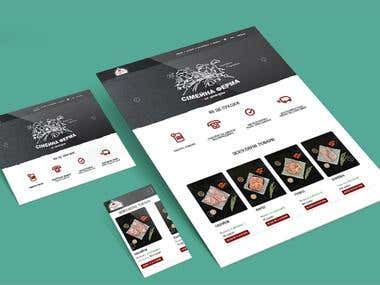 Website design and development for local butchers