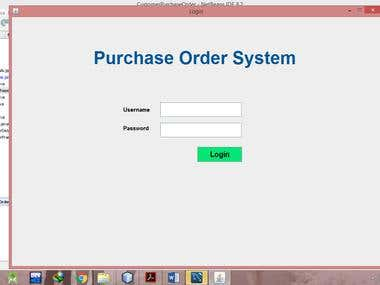 Customer Purchase Order System using Java & MySql