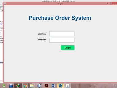 Customer Purchase Order System using Java & MySql