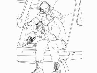 Tactical Shooting Illustration
