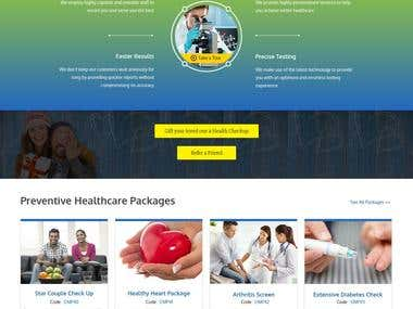 Website Design for Health Check Lab