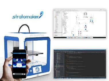 Stratomaker 3D Printer Mobile App