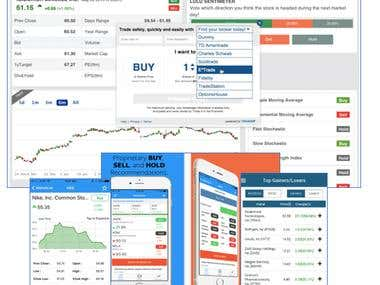 Web and iOS/Android Apps for Trading/Stock watch list