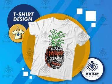 T-shirt Design - Pineapple