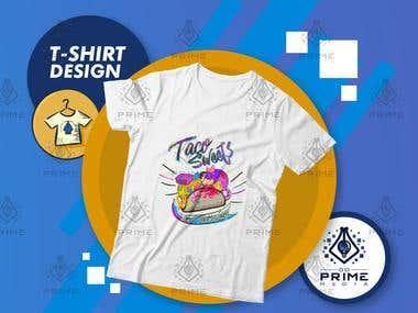 T-shirt Design - Taco Sweets