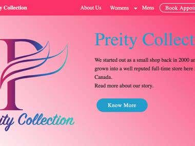 Preity Collection - Website