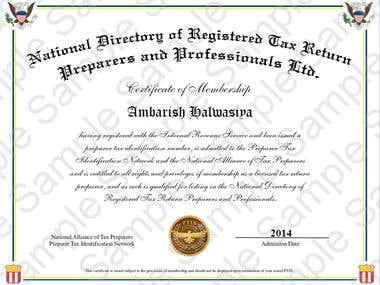 PTIN Registration