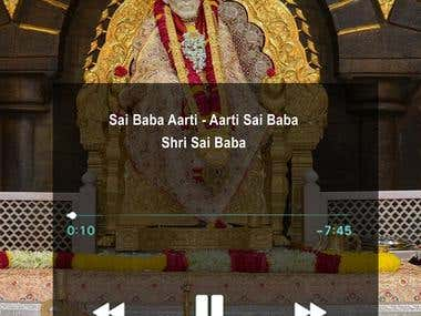 Sai Baba Music Player