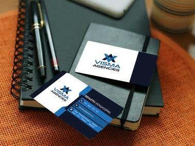 Business Card Design for Visma Agencies