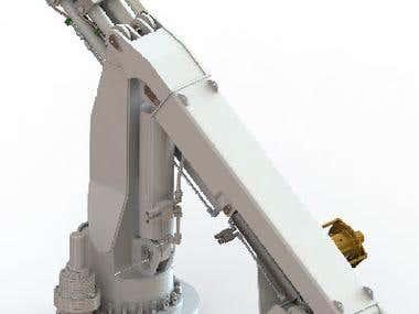 Foldable telescopic crane
