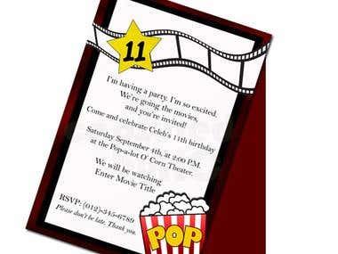 Movie Theater Party Invitation