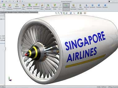Jet Engine-Solidworks