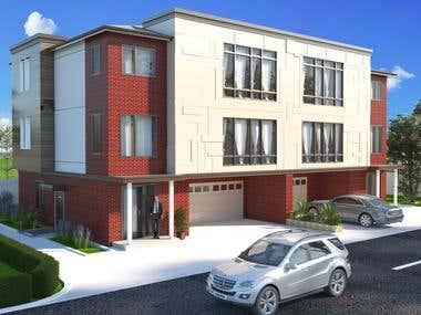 House 3d rendering.